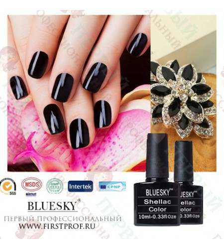Bluesky Shellac 518 Black Pool