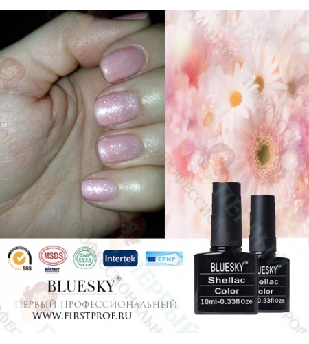 Bluesky Shellac 546 Grapefruit Sparkle