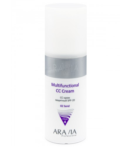 """ARAVIA Professional"" CC-крем защитный SPF-20 Multifunctional CC Cream sand 02, 150 мл."