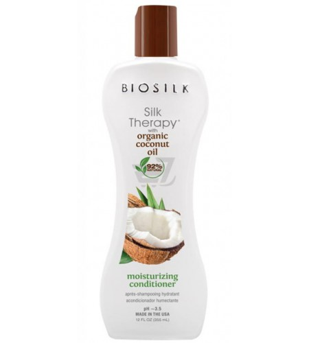 Кондиционер BioSilk Organic Coconut Oil Moisturizing Conditioner 355 мл